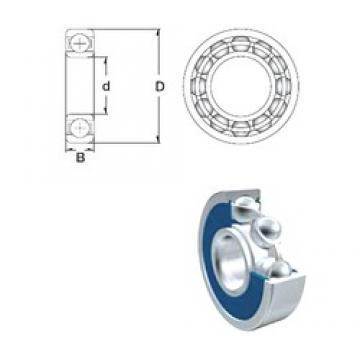 ZEN S6015-2RS deep groove ball bearings