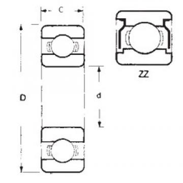 FBJ 6000ZZ deep groove ball bearings