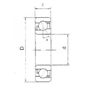 FBJ 7214B angular contact ball bearings