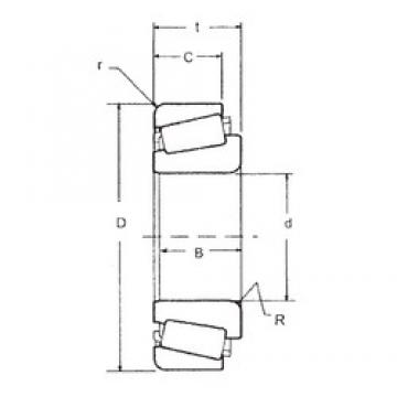 FBJ 74550/74845 tapered roller bearings
