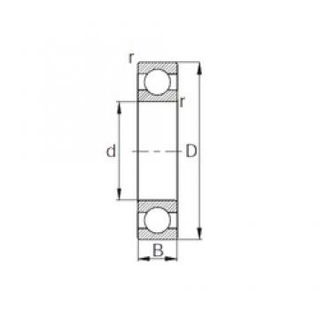 KBC 6313 deep groove ball bearings