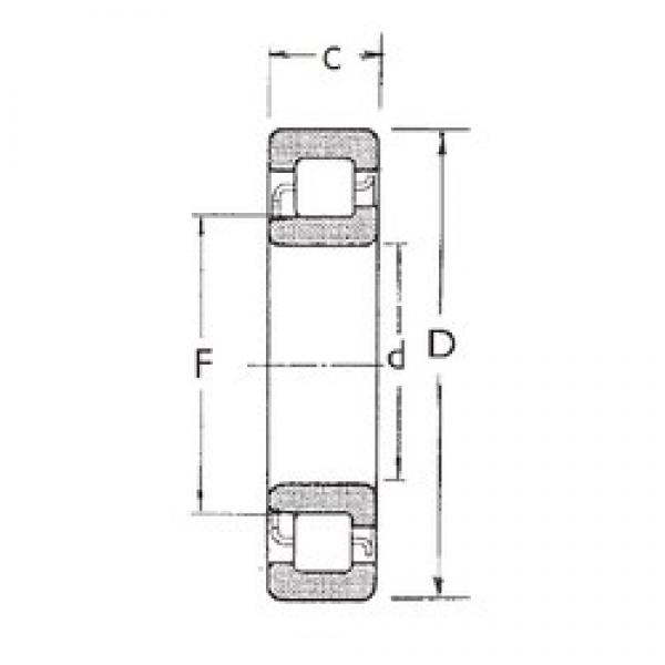 FBJ NJ2314 cylindrical roller bearings #2 image